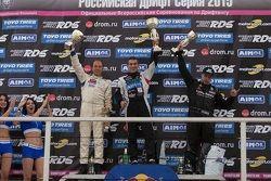 Подиум: Андрей Богданов, третий, Евгений Сатюков, победитель, и Андрей Песегов, второй