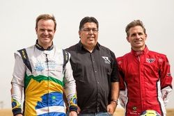 Rubens Barrichello, Carlinhos Romagnolli e Felipe Giaffone