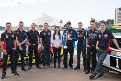 V8 Supercars drivers Tim Slade, Scott McLaughlin, Will Davison, Craig Lowndes, Renee Gracie, Chaz Mostert, Mark Winterbottom, Rick Kelly and Jamie Whincup