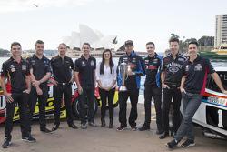 V8 Supercars drivers Tim Slade, Scott McLaughlin, Will Davison, Craig Lowndes, Renee Gracie, Chaz Mo