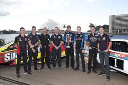 V8 Supercars drivers Tim Slade, Scott McLaughlin, Will Davison, Craig Lowndes, Chaz Mostert, Mark Wi
