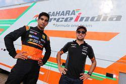 Jehan Daruvala e Sergio Perez
