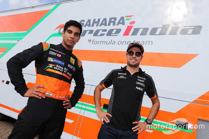 Jehan Daruvala and Sergio Perez