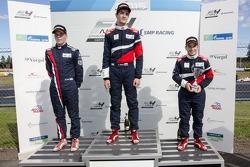 Подиум: Нико Кари, второй, Владимир Атоев, победитель, Нерсес Исаакян, третий