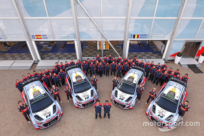 La foto del grupo Hyundai Motorsport World Rally Team
