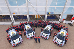 La foto del grupo Hyundai Motorsport World Rally Team