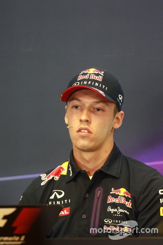 Daniil Kvyat, Red Bull Racing in the FIA Press Conference