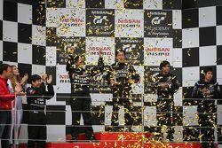 Podium: winner Jose Gerard Policarpio, second place Andika Rama, third place Akshay Gupta