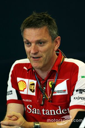 James Allison, director técnico de chasis de Ferrari en la conferencia de prensa de la FIA