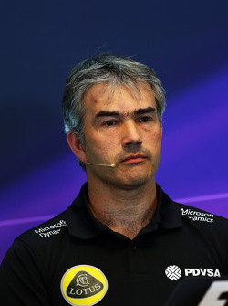 Nick Chester, Lotus F1 Team Technical Director in the FIA Press Conference
