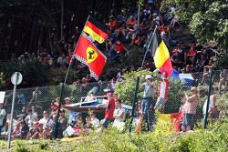 Fans with flags for Sebastian Vettel, Ferrari. - www.xpbimages.com, EMail: requests@xpbimages.com - copy of publication required for printed pictures. Every used picture is fee-liable. © Copyright: Photo4 / XPB Images