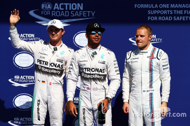Гран При Бельгии, 22 августа. Нико Росберг, Льюис Хэмилтон и Валттери Боттас – трое быстрейших в квалификации