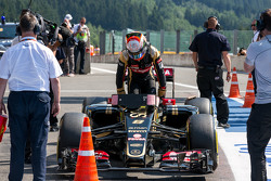 Ромен Грожан, Lotus F1 E23 в закрытом парке