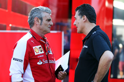 (L to R): Maurizio Arrivabene, Ferrari Team Principal with Federico Gastaldi, Lotus F1 Team Deputy Team Principal