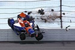 Gros crash pour Charlie Kimball, Chip Ganassi Racing Chevrolet