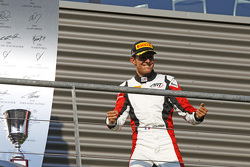 Race winnaar Esteban Ocon, ART Grand Prix