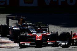 Daniel de Jong, MP Motorsport leads Pierre Gasly, DAMS