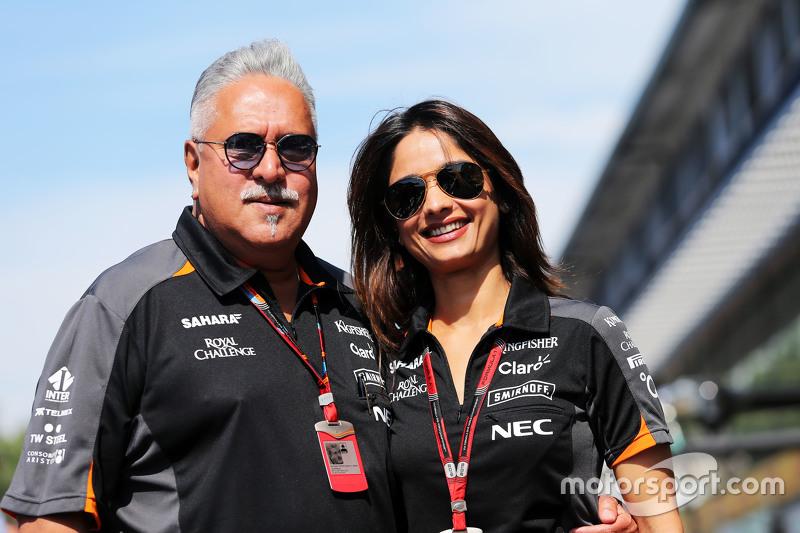 Dr  Vijay Mallya, Sahara Force India F1 Team Owner with his