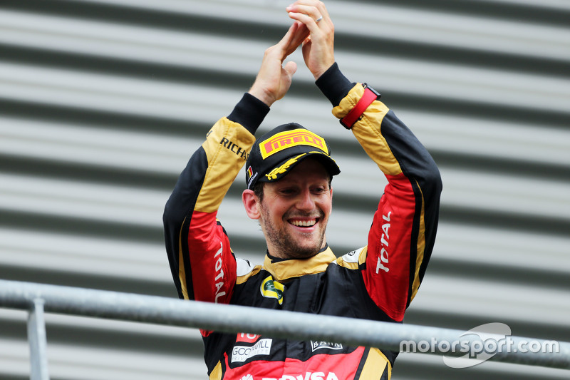 Tercer lugar Romain Grosjean, Lotus F1 Team