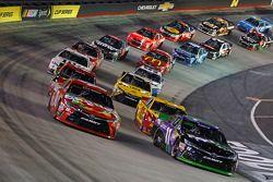 Kyle Busch, Joe Gibbs Racing Toyota y Denny Hamlin, Joe Gibbs Racing Toyota