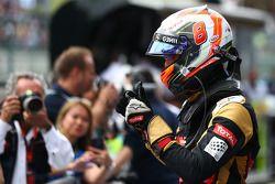 Terzo posto Romain Grosjean, Lotus F1 E23