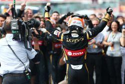 Tercer lugar Romain Grosjean, Lotus F1 E23