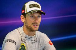 Ромен Грожан, Lotus F1 Team на пресс-конференции FIA