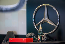 Champagne for the Mercedes AMG F1 team