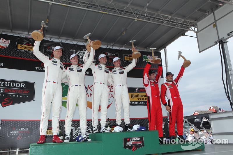 Race winners #911 Porsche North America Porsche 911 RSR: Patrick Pilet, Nick Tandy, second place #91