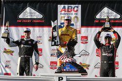 Ryan Hunter-Reay, Andretti Autosport Honda, Josef Newgarden, CFH Racing Chevrolet e Juan Pablo Monto