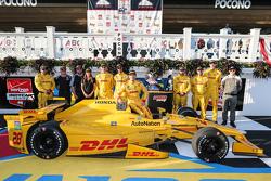 Le vainqueur Ryan Hunter-Reay, Andretti Autosport Honda