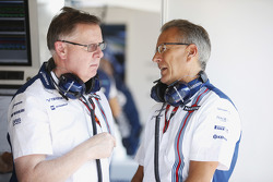 Mike O' Driscoll, Group CEO and Nick Rose, Non-Executive Chairman, Williams F1