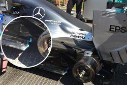 Detalhe do Mercedes F1 W06