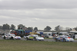 Martin Ponte, Nero53 Racing Dodge y Emiliano Spataro, UR Racing Dodge con Leonel Sotro, Alifraco Spo