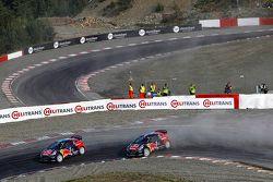 Timmy Hansen, Team Peugeot Hansen e Davy Jeanney, Team Peugeot Hansen