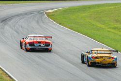 #76 Compass 360 Racing Audi R8 LMS: Ray Mason, Pierre Kleinubing and #97 Turner Motorsport BMW Z4: M