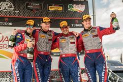 Second place #9 Stevenson Motorsports Chevrolet Camaro Z/28.R: Lawson Aschenbach, Matt Bell and thir