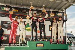 Podium: Race winners #17 RS1 Porsche Cayman: Spencer Pumpelly, Luis Rodriguez Jr., second place #56 Murillo Racing Porsche Cayman: Jeff Mosing, Eric Foss and third place #34 Alara Racing Mazda MX-5: Christian Szymczak, Justin Piscitell