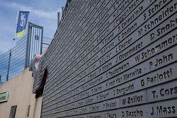 Wall of Nürburgring legends