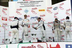 Podio Gara 2: Stefano Comandini e Andrea Gagliardini, ROAL Motorsport, Marco Comandini e Andrea Amic
