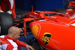 Ferrari, dettaglio sul sidepod