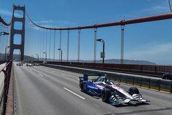 Marco Andretti bestuurt de wagen van Justin Wilson