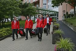 Andre Lotterer, Benoit Tréluyer, Marcel Fassler, Lucas di Grassi, Oliver Jarvis, Audi Sport Team Joest