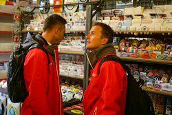 Andre Lotterer und Marcel Fassler, Audi Sport Team Joest