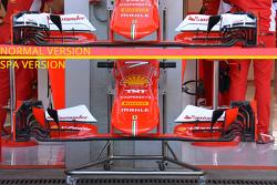 Ferrari front wing comparison