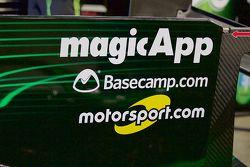 The Motorsport.com logo on the #31 Extreme Speed Motorsports Ligier JS P2