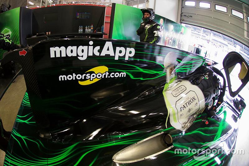 Das Logo von Motorsport.com auf dem #31 Extreme Speed Motorsports Ligier JS P2