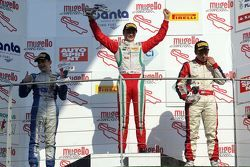 Podio Gara 3: primo posto, Ralf Aron Prema Power Team, secondo David Beckmann, Mucke Motorsport, ter