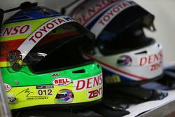 Cascos de pilotos Toyota Racing