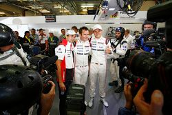 Pole winning #18 Porsche Team Porsche 919 Hybrid: Romain Dumas, Neel Jani, Marc Lieb